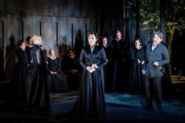 Verdi: Don Carlo - Ruxandra Donose, Marina Costa-Jackson, Brett Polegato - Grange Park Opera 2019 (Photo Robert Workman)