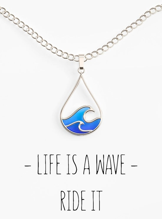 Blue Ocean Wave Necklace