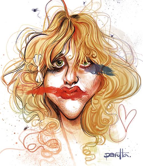 "Caricatura de ""Courtney Love"" por Mario Perrotta"