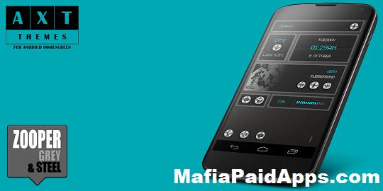 Zooper Grey & Steel v2 00 | MafiaPaidApps com | Download Full