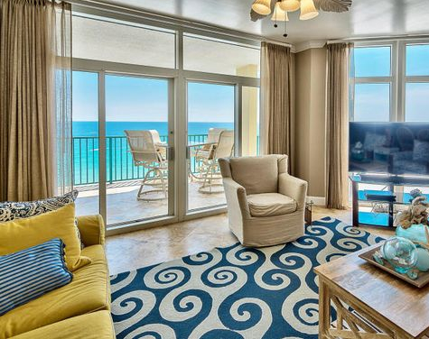 Ocean Swirl Area Rug Living Room Decor Idea