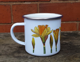 China Daffodil Mug by Alice Draws The Line
