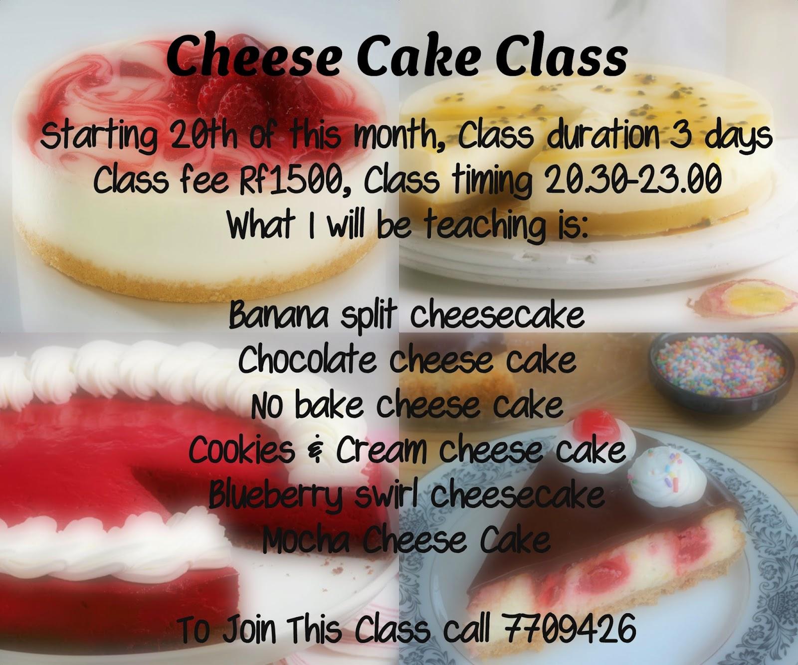 Wedding Cake Classes: Nadiya's Tastes Of Maldives: Cheesecake Class, Cake
