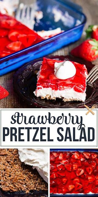Strawberry Pretzel Salad Dessert