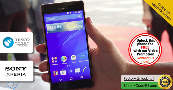 Factory Unlock Code Sony Xperia Z3 from Tesco