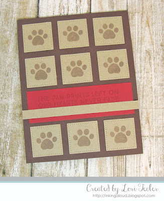 Paw Prints card-designed by Lori Tecler/Inking Aloud-stamps and dies from My Favorite Things