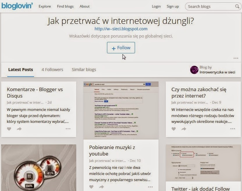 Mój blog na Bloglovin