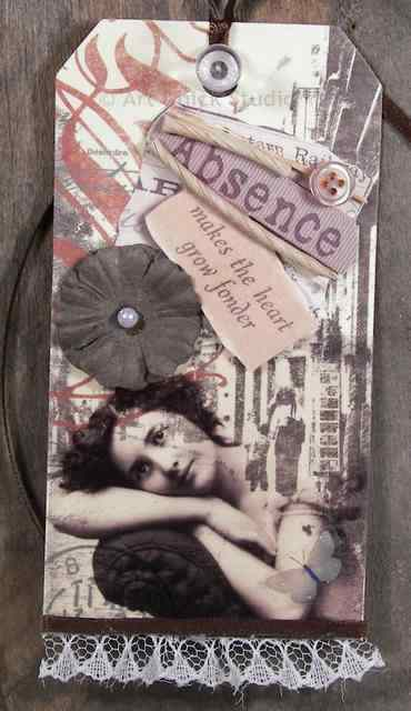 Absence Altered Art Tag