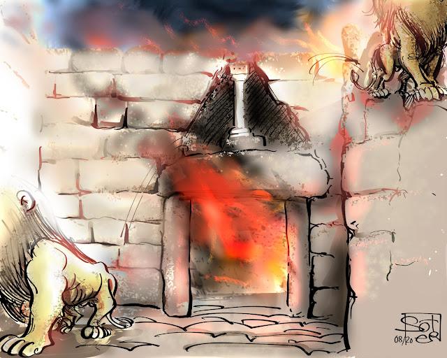 Πύλη λεόντων - Μυκήνες 2020   mycenae φωτια fire leo σκιτσο sketch sketches cartoons politicalcartoon politicalcartoons γελοιογραφία σκίτσο skitso skitsobiz soter www.skitso.biz