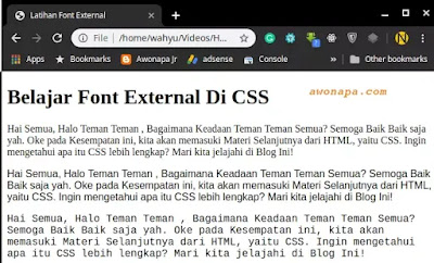 CSS font-family