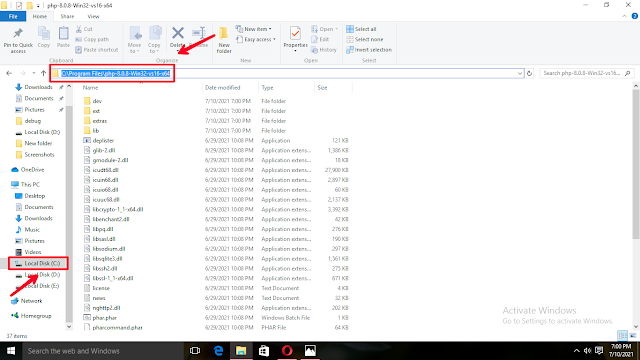 php download and installation Tutorial for Windows 10 (64-bit)