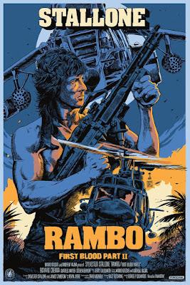 Rambo: First Blood Part II Screen Print by Francesco Francavilla x Nautilus Art Prints x Mondo
