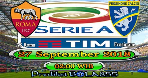 Prediksi Bola855 AS Roma vs Frosinone 27 September 2018
