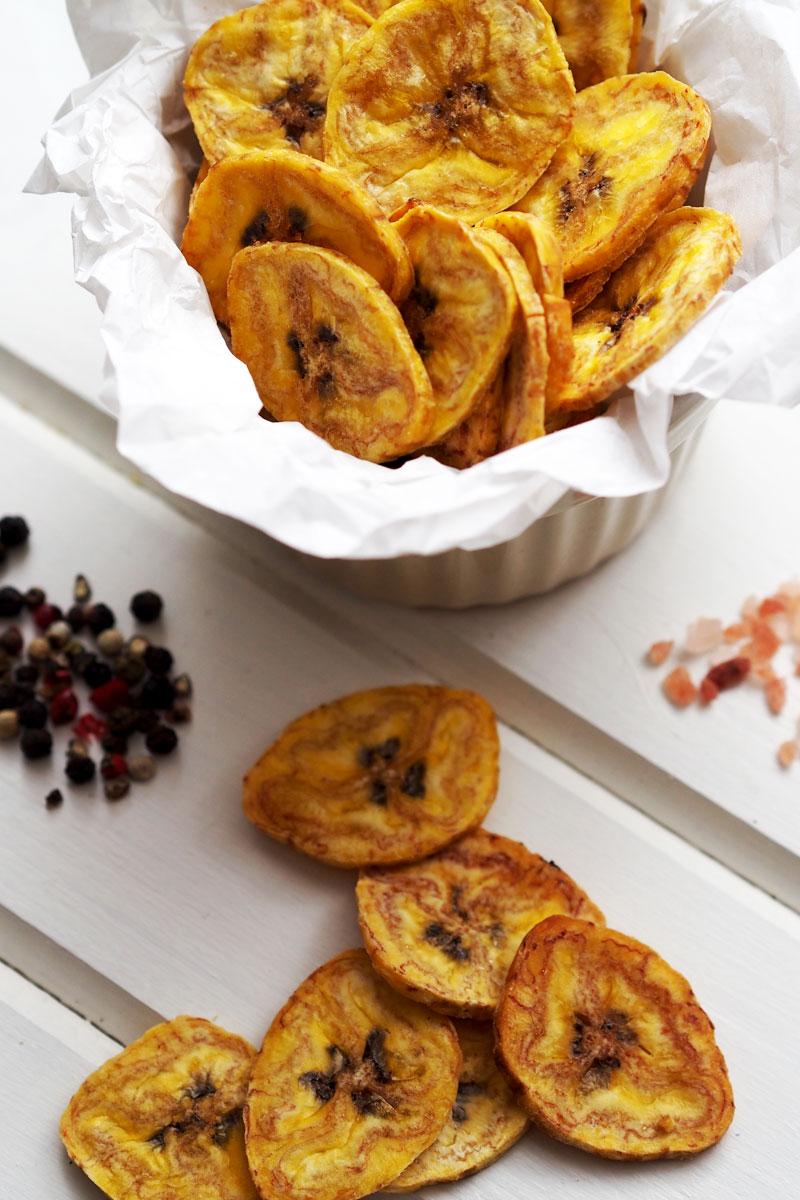 chipsy z plantanów w wersji pieczonej