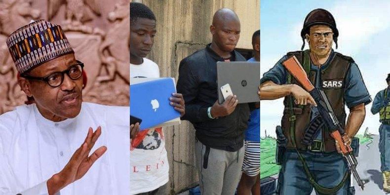 President Buhari, Yahoo boys, Sars