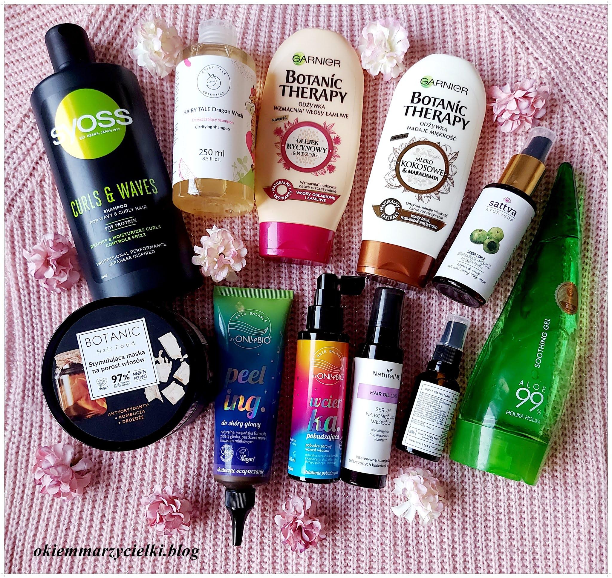 #Blogerkipolecaja: Moja aktualna pielęgnacja włosów {Garnier, Natural Me, Syoss, Hair Tale Cosmetics, Only Bio, Sattva, Ministerstwo Dobrego Mydła}