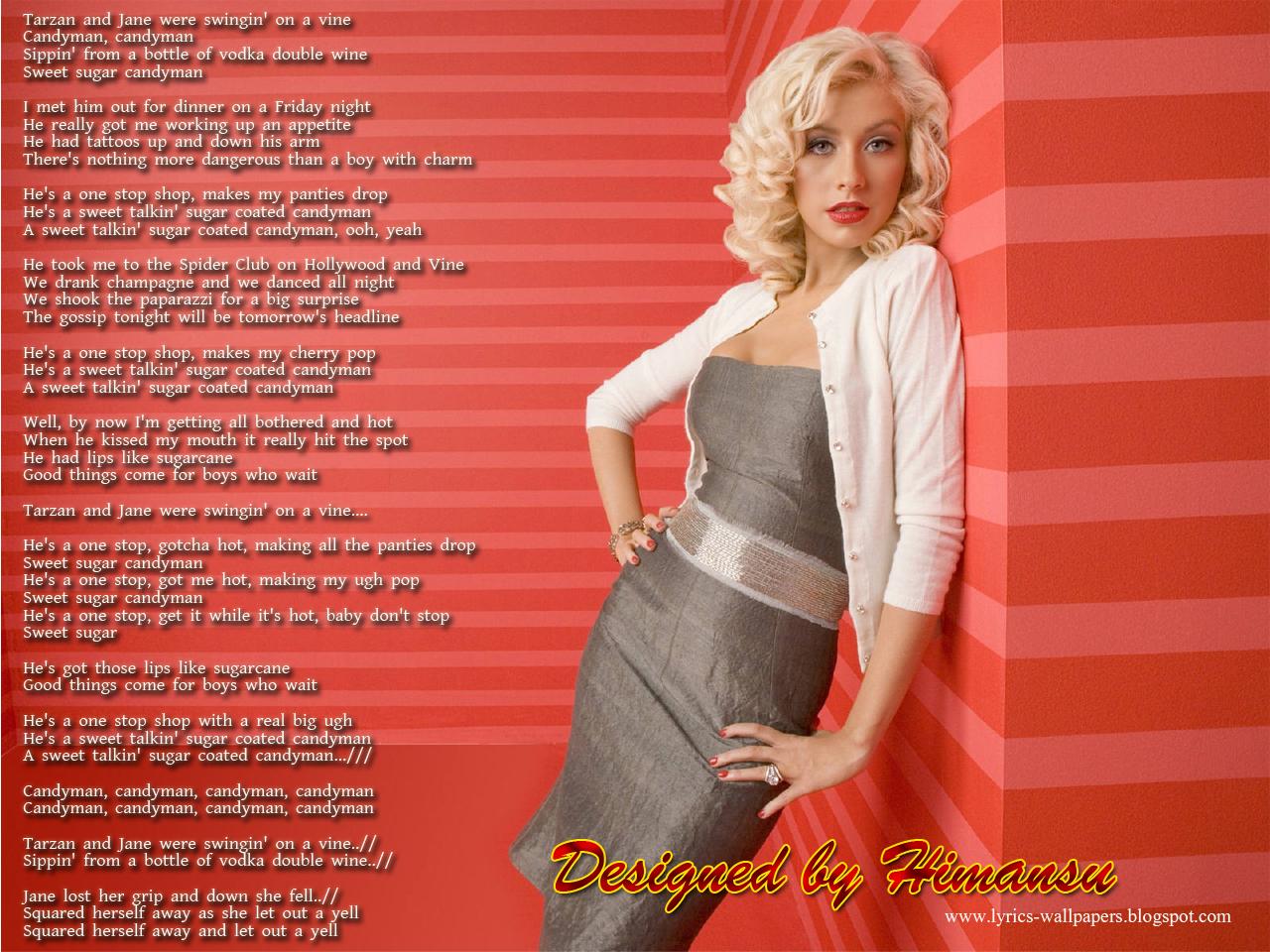 Lyrics Wallpapers: Christina Aguilera - Candyman