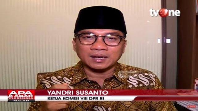 Ketua Komisi Agama DPR RI : Menag Diminta Jokowi Batalkan Haji 2020