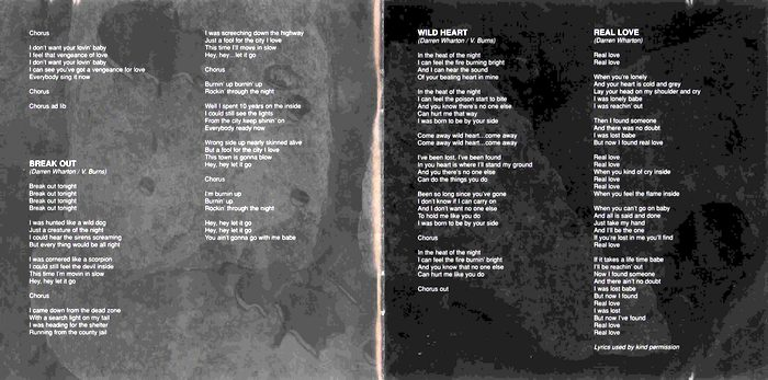 DARE - Blood From Stone [reissue] booklet