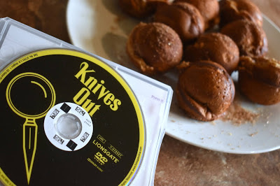 knives out dvd with donuts