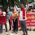 किसान सभा के कार्यकर्ताओं ने कृषि कानून की प्रतियां जलाकर किया विरोध प्रदर्शन