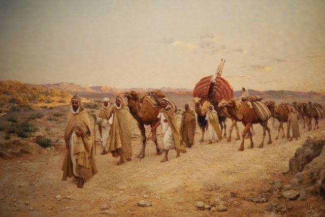 Musée Marmottan Monet - L'orient des peintre - Caravanes près de Biskra, Algérie - Lazerges