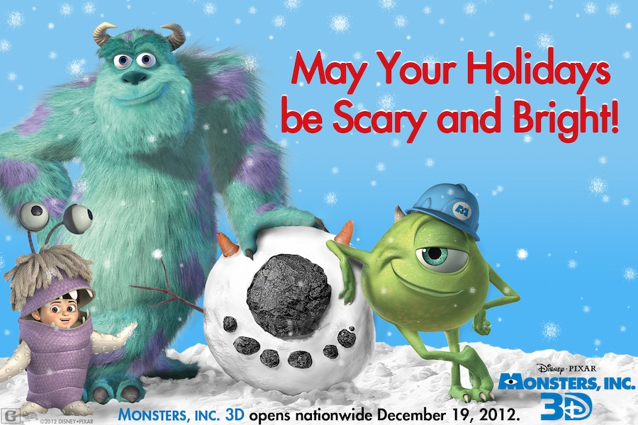 monsters  inc  wishes you happy holidays