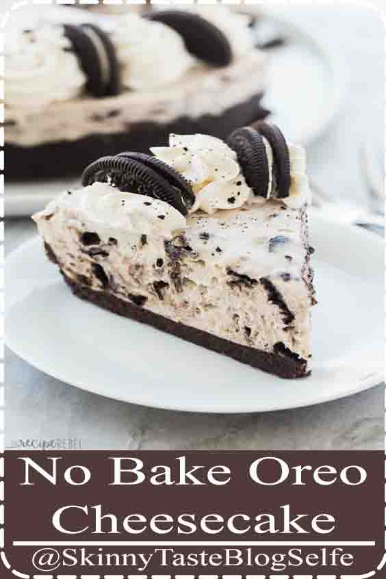 4.9 | ★★★★★ This No Bake Oreo Cheesecake is made with just a few ingredients! It's so silky smooth and loaded with chunks of Oreos. The no bake dessert for summer! #nobake #dessert #cheesecake #oreo #recipes