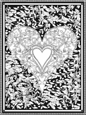 free adult valentines heart coloring pages