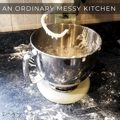 an ordinary messy kitchen