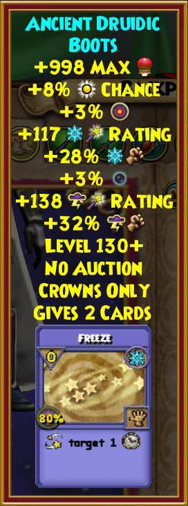 Wizard101 Druid Hoard Pack Level 130 Gear