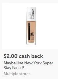 $2.00/1 Maybelline SuperStay Face items ibotta Cashback rebate *HERE*