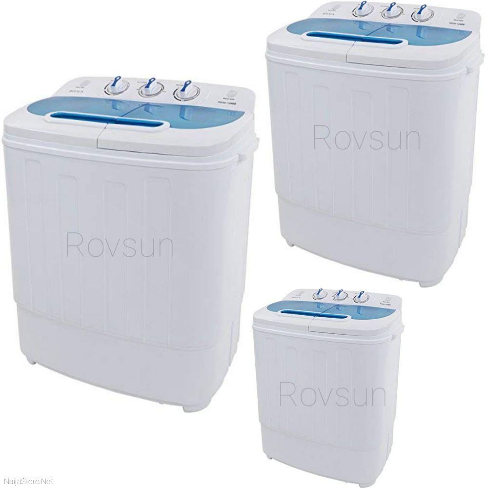 Rovsun Twin Tub Washer - 13.4LBS Capacity Energy-Efficient Washing Machine