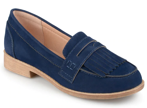 preppy navy loafer outfits