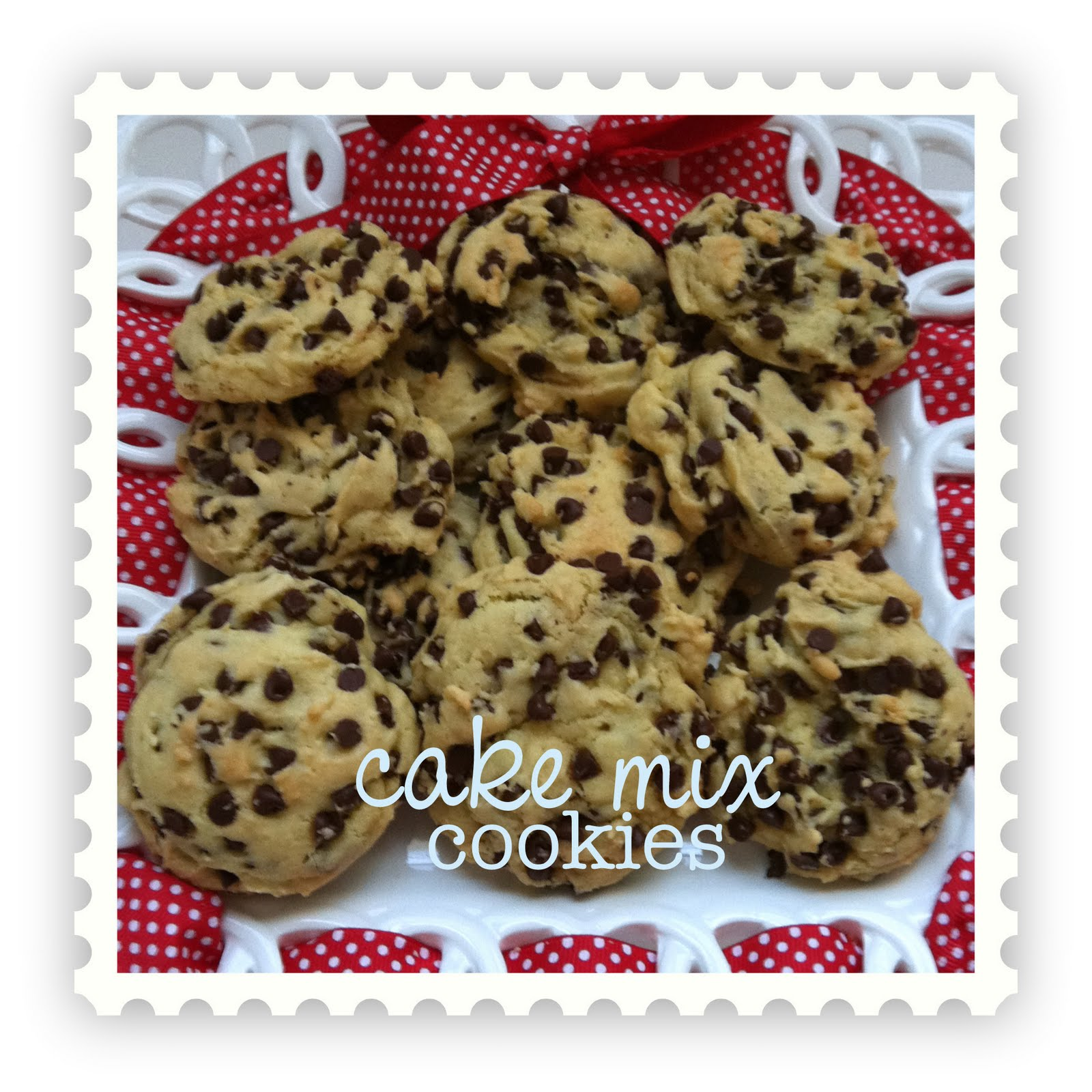 The Zesty Baker Chocolate Chip Cake Mix Cookies