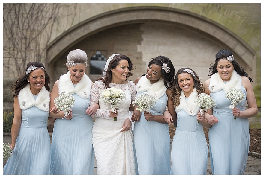 edb9732eb96b9 A Pretty Pastel Blue Winter Wedding with a Tea-Party Theme