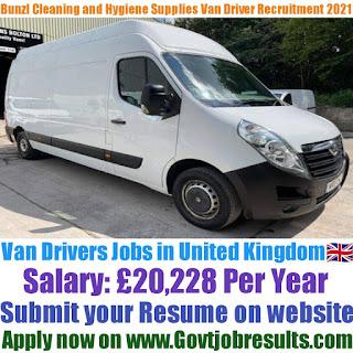 Bunzl Cleaning and Hygiene Supplies Van Driver Recruitment 2021-22