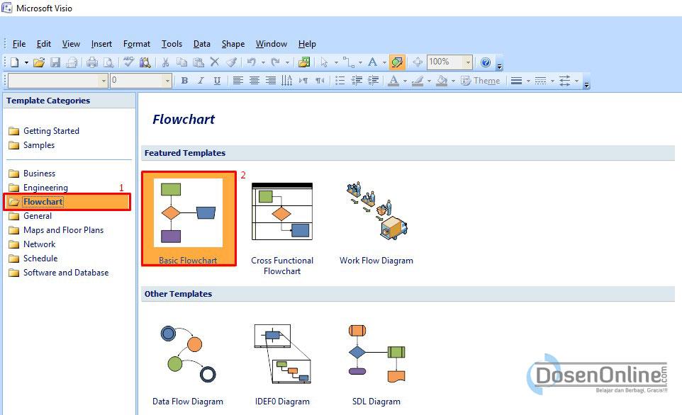 Cara mudah membuat dad atau dfd dengan visio 2007 belajar dan tampilan awal microsoft visio 2007 ccuart Choice Image