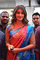 Puja Hegde looks stunning in Red saree at launch of Anutex shopping mall ~ Celebrities Galleries 100.JPG