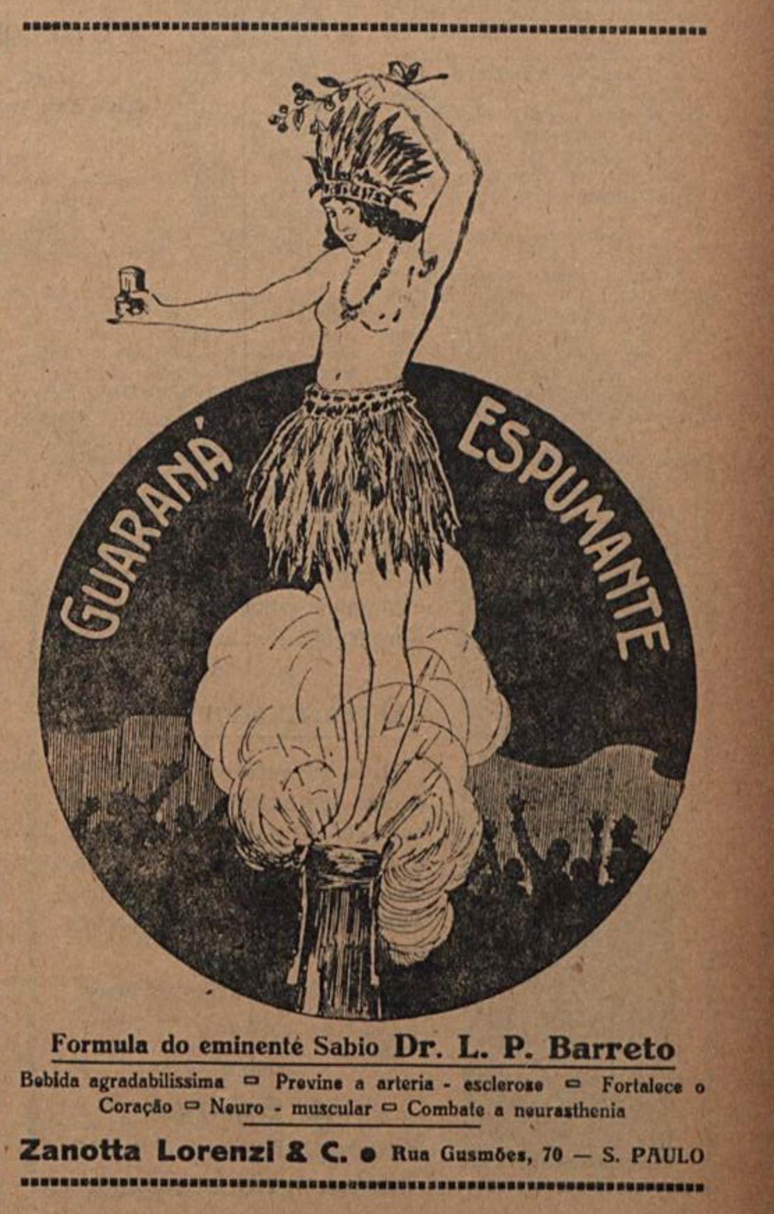 Propaganda antiga do Guaraná Espumante veiculada em 1920
