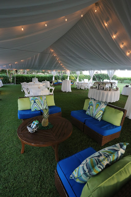 casa ybel tent wedding with pineapples and lawn