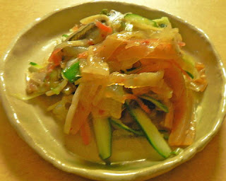 中華クラゲとままかりの和え物