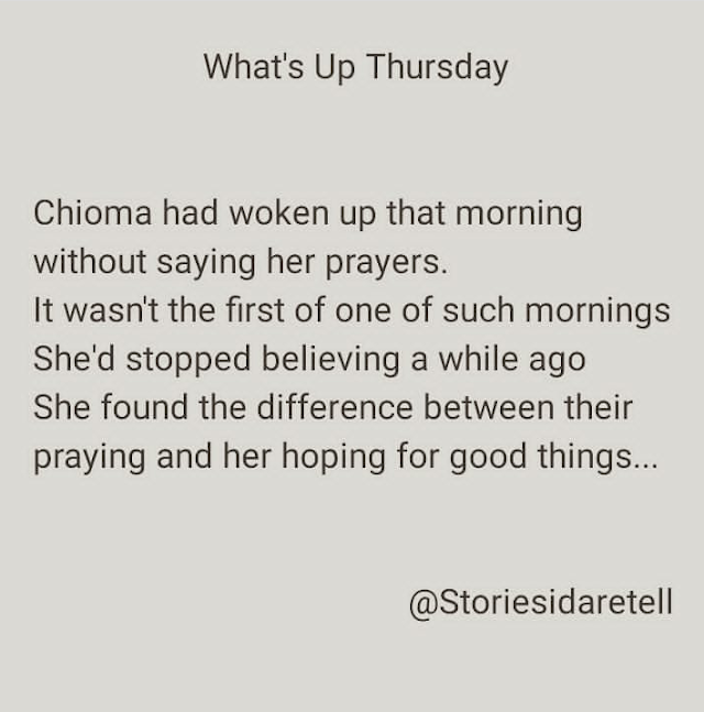 Storiesidaretell - What's UP Thursday