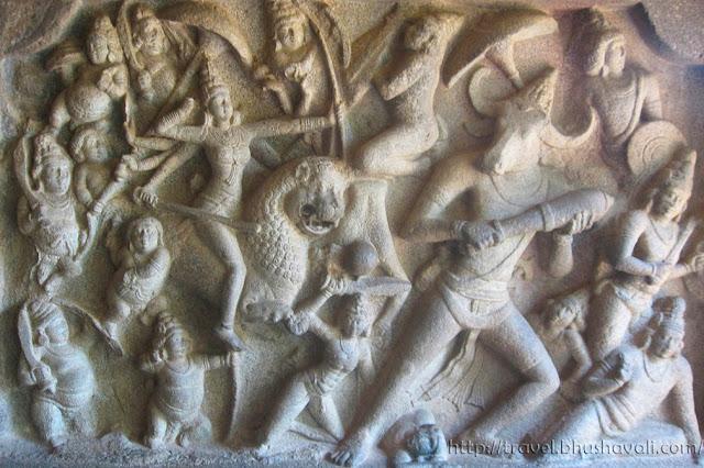 UNESCO World Heritage Sites in India - Mahabalipuram Mahishasura Mardhini Panel