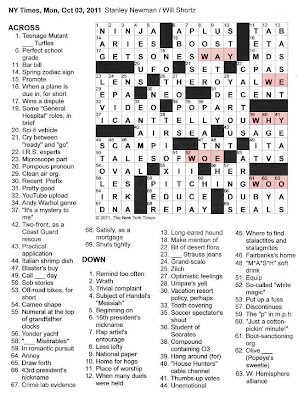 The New York Times Crossword in Gothic: 10.03.11 — The