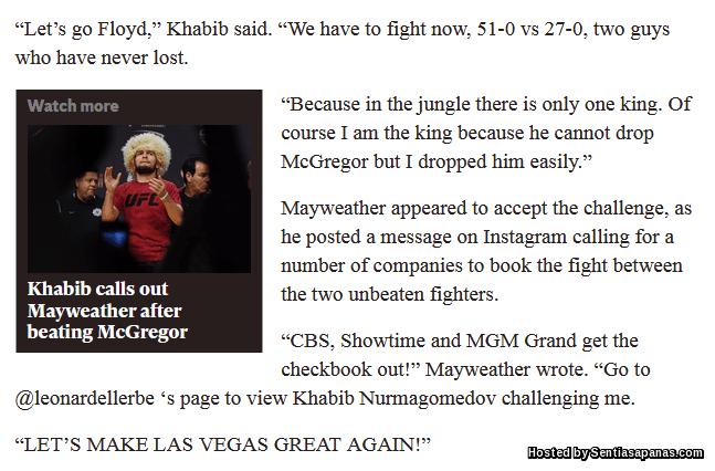 Floyd Mayweather vs Khabib