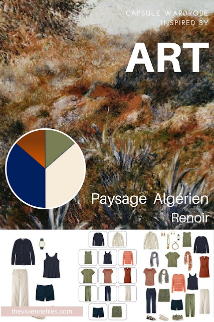 Building a Travel Capsule Wardrobe by Starting with Art: Paysage Algérien by Renoir
