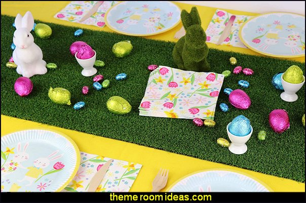 Flocked Bunny Rabbit Easter Decor Easter Celebration Children's Party bunny rabbit table decorations