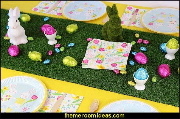 Flocked Bunny Rabbit Easter Decor Easter Celebration Children's Party bunny rabbit table decorations