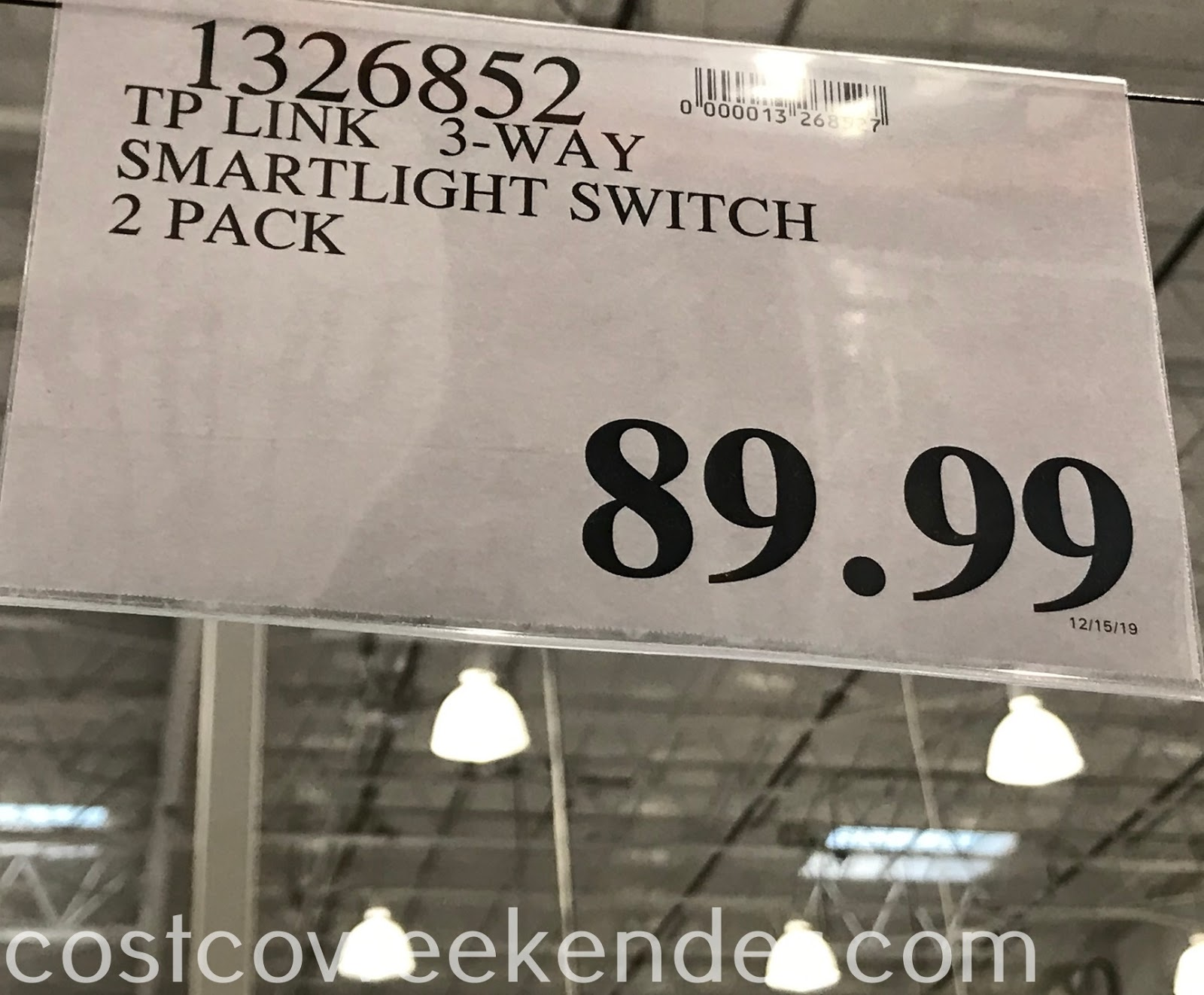 Deal for the TP-Link Smart Wi-Fi Light Switch 3-Way Kit at Costco